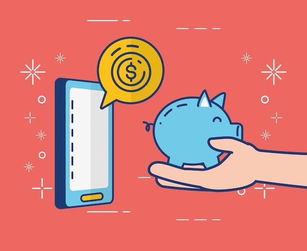 Servizi bancari online su smartphone
