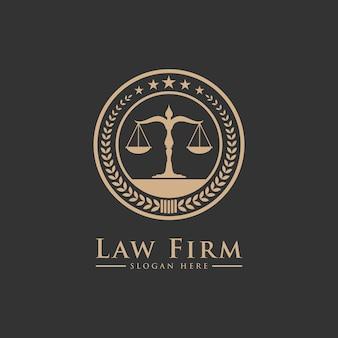 Servizi di law firm lawyer, logo di lusso vintage crest