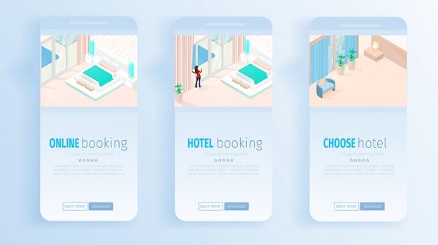 Servizi di prenotazione online di hotel per banner di vacanze