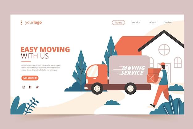 Servizi di trasloco casa - pagina di destinazione