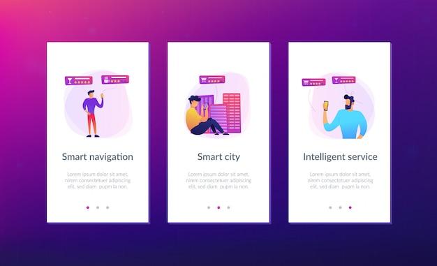 Servizi intelligenti nel modello di interfaccia dell'app smart city.