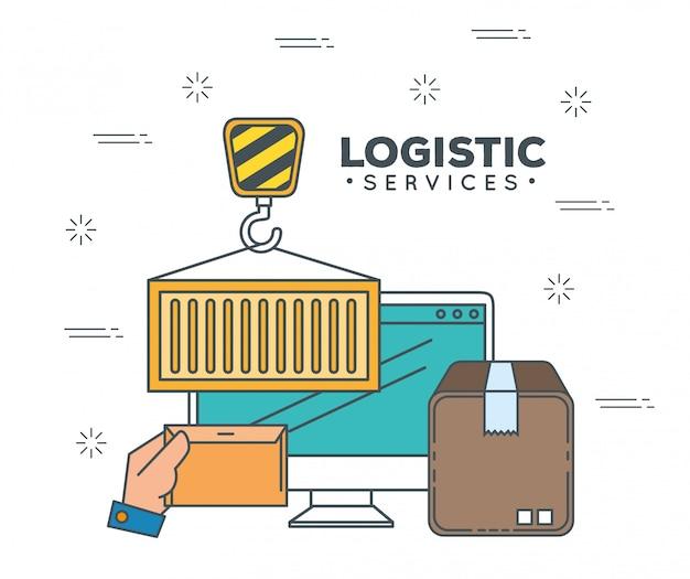 Servizi logistici con computer