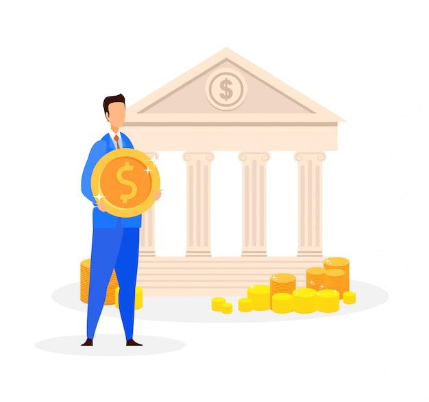 Servizio bancario, illustrazione di vettore di offerta di credito
