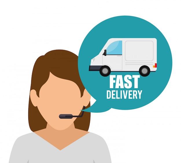 Servizio carattere consegna veloce