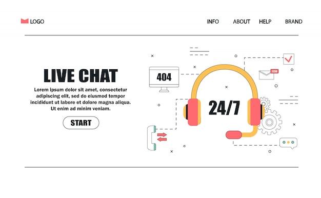 Servizio clienti e consulenza clienti concetto per landing page