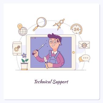 Servizio clienti. supporto tecnico, call center, fidelizzazione dei clienti