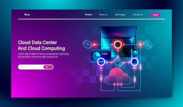 Servizio cloud data center e cloud computing