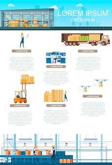Servizio di archiviazione o banner infografica di manutenzione