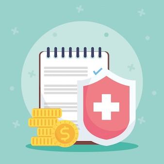 Servizio di assicurazione sanitaria con scudo