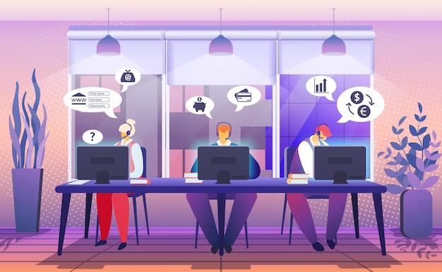 Servizio di assistenza clienti. chat online di consulenza