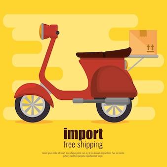 Servizio di consegna bici scooter