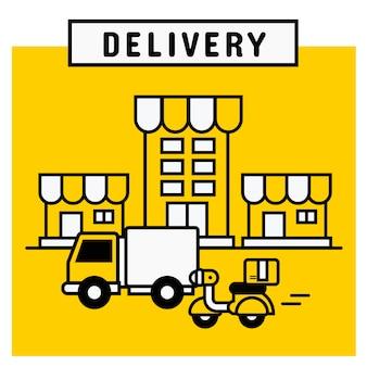 Servizio di consegna dalla piattaforma di shopping online.