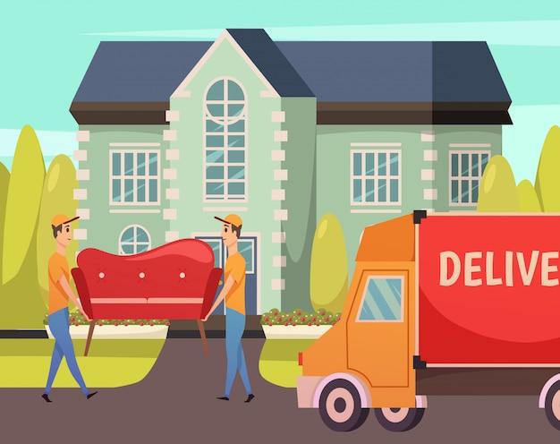 Servizio di consegna del corriere ortogonale