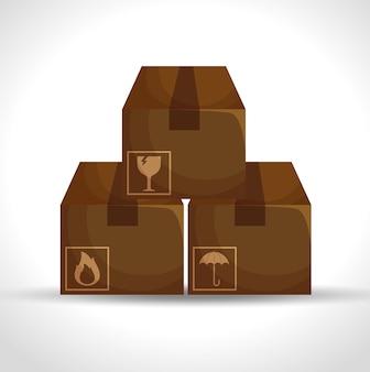 Servizio di consegna dell'imballaggio del cartone delle scatole