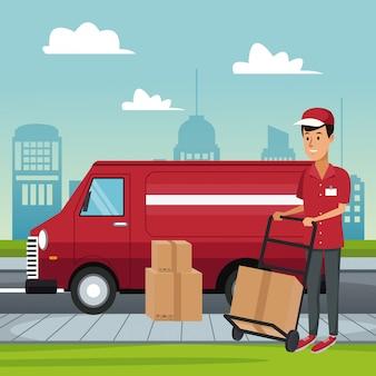 Servizio di consegna furgone
