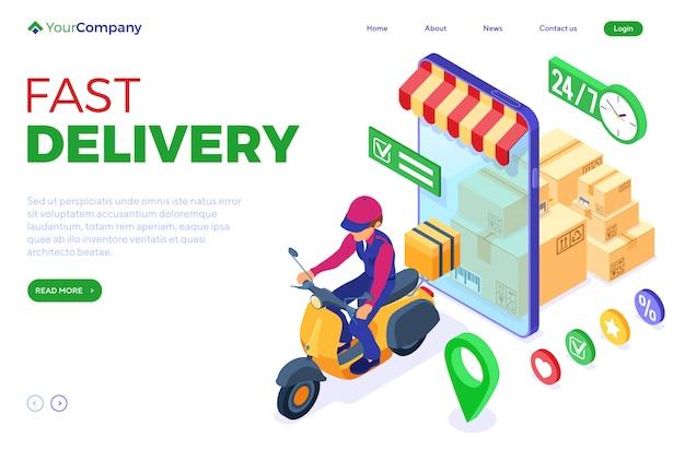 Servizio di consegna pacchi ordini online