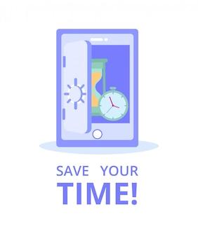Servizio di e-commerce di finanza online banking. risparmia tempo