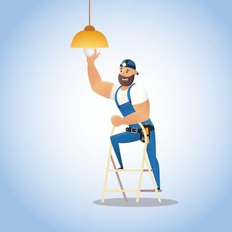 Servizio di illustrazione vettoriale servizio elettricista