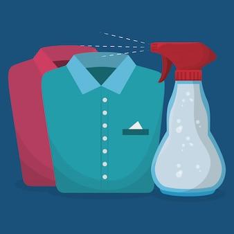 Servizio di lavanderia bottiglia splash