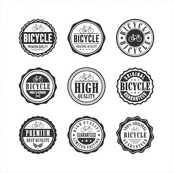 Servizio di negozio di biciclette collezione di badge