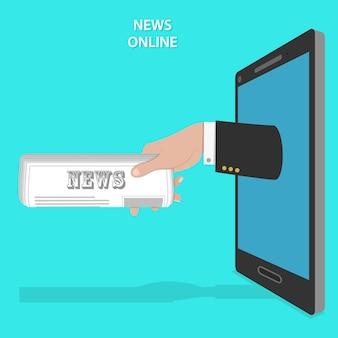 Servizio di notizie online piatto