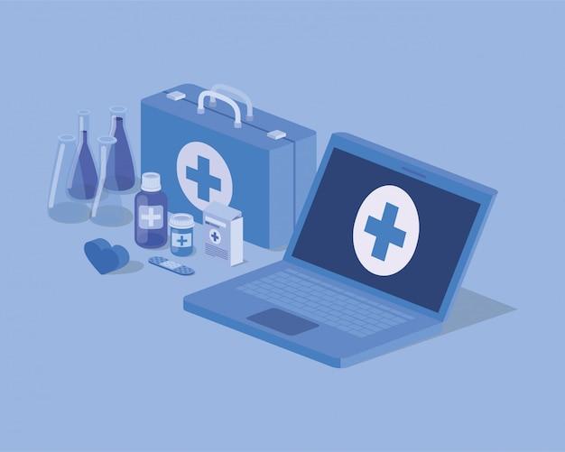 Servizio di telemedicina portatile con kit medico e farmaci