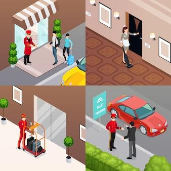Servizio hotel 2x2 design concept