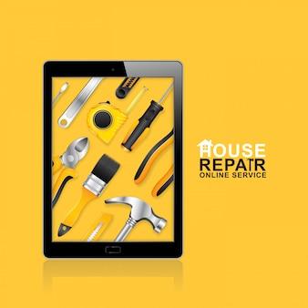 Servizio online di strumenti di costruzione