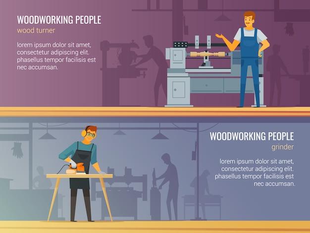 Servizio professionale di falegnameria di falegnameria 2 insegne piane