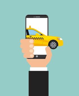 Servizio taxi tecnologia di trasporto pubblico app