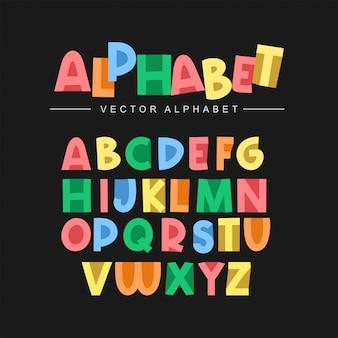 Set alfabeto colorato