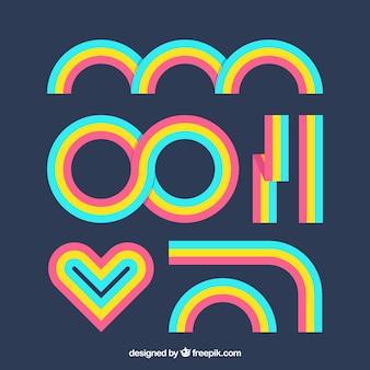 Set arcobaleno colorato