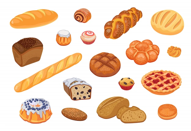 Set assortimento di pane