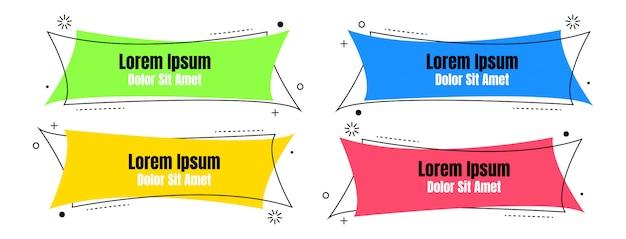 Set astratto colorato liquido geometrico per banner