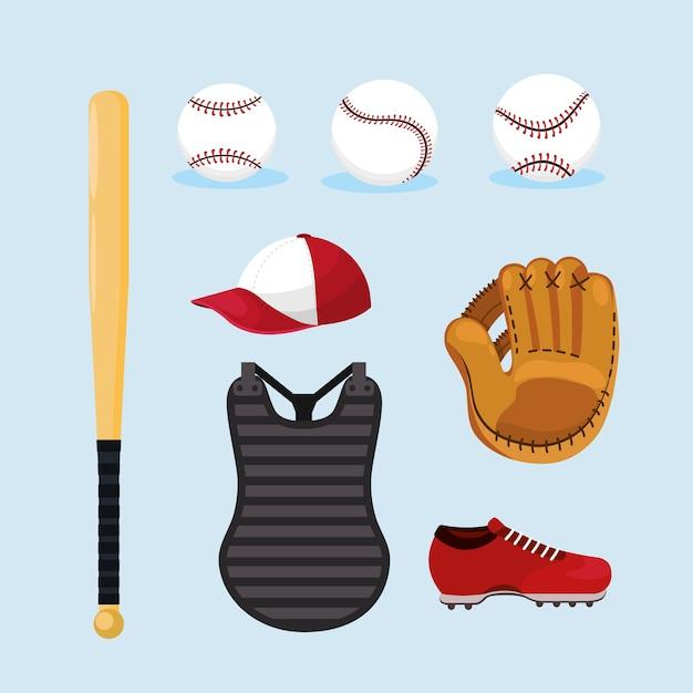 Set attrezzatura da baseball professionale uniforme