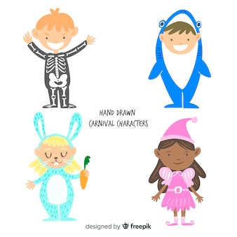 Set bambini mascherati
