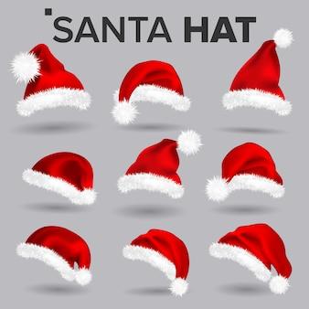 Set cappello da babbo natale