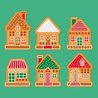 Set casa di panpepato design piatto