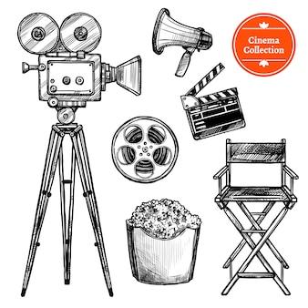 Set cinematografico disegnato a mano