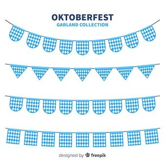 Set classico di ghirlande oktoberfest con design piatto