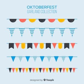 Set classico di ghirlande oktoberfest
