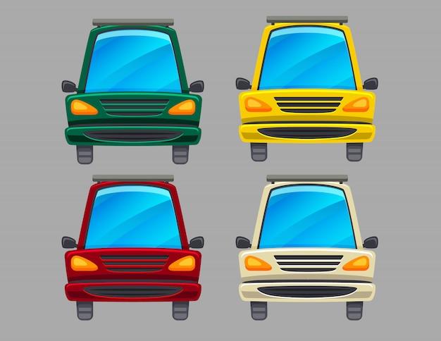 Set colorato di automobili