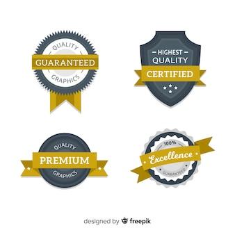 Set colorato di badge moderni
