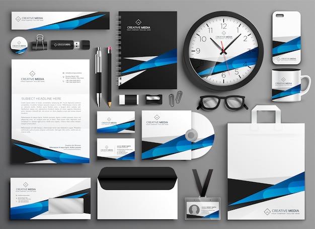 Set completo di materiale di cancelleria aziendale