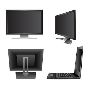 Set computer laptop notebook monitor