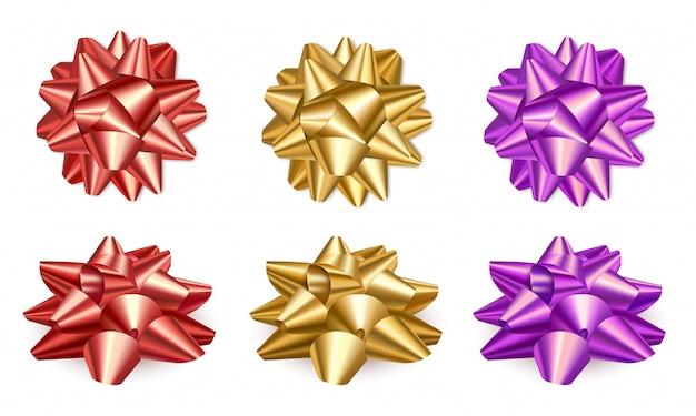 Set con fiocchi colorati festivi