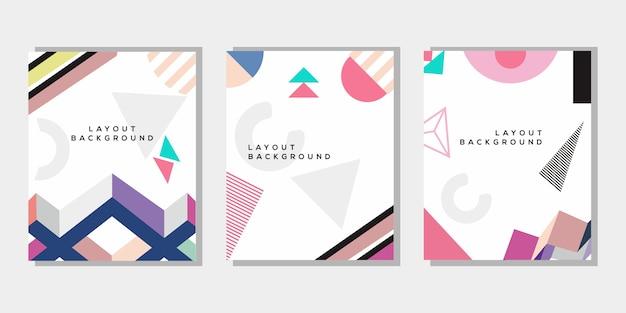 Set copertina memphis color pastello