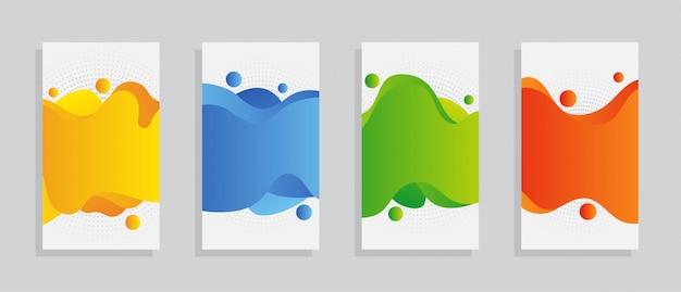 Set copertina multicolor