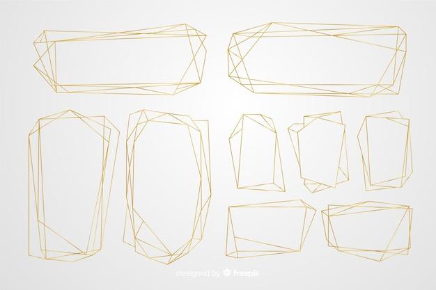 Set cornice poligonale dorata