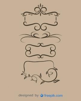 Set cornici ornamentali d'epoca